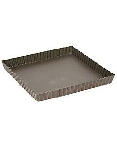 Gobel quichevorm met uitneembare bodem 23 x 23 cm staal bruin