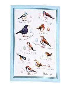 Ulster Weavers Bird Song theedoek katoen beige