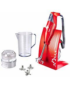 Bamix Swissline staafmixer 200 W met 4 gratis gadgets rood