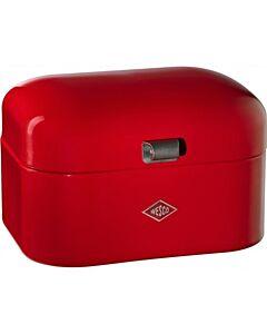 Wesco Single Grandy broodtrommel 28 cm plaatstaal rood