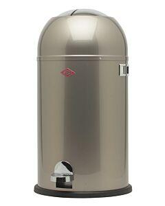Wesco Kickmaster afvalemmer rond 33 liter nieuw-zilver