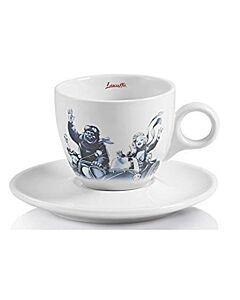 Lucaffé Blucaffé cappuccinokop en schotel blauw 2-delig