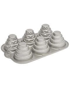 Nordic Ware bakvorm bruidstaart ø 9 cm aluminium 6 stuks