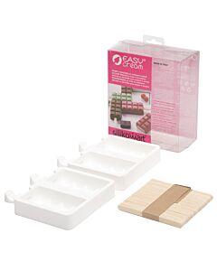 Silikomart flexibele dubbele ijsvorm chocoladereep 90 ml silicone wit