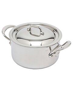 Mauviel M'Cook kookpan met deksel ø 16 cm rvs glans