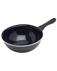 BK Fortalit wok ø 28 cm plaatstaal blauw