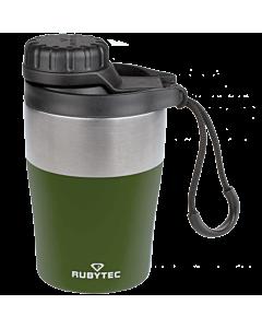Rubytec Shira Hotshot dubbelwandige thermosfles 200 ml rvs groen