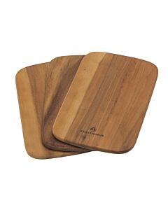 Zassenhaus snijplank 23 x 15 cm hout 3 stuks acaciahout