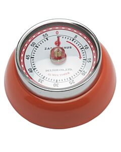 Zassenhaus Timer Speed kookwekker 7 cm metaal rood