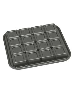 Nordic Ware brownie bakvorm 16 stuks 700 ml gietaluminium grijs
