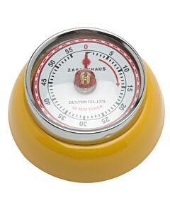Zassenhaus Timer Speed kookwekker 7 cm metaal geel