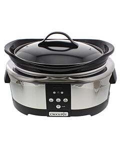 Crock-Pot digitale slowcooker 5,7 liter rvs zwart