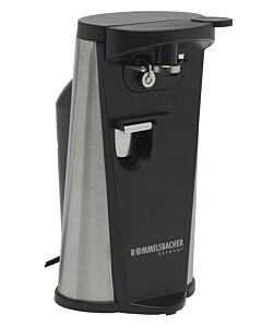 Rommelsbacher elektrische blikopener 22,5 cm kunststof zwart