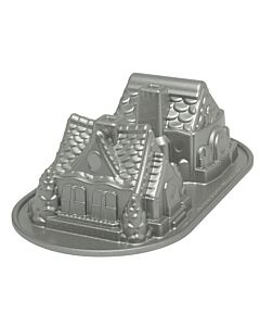 Nordic Ware Holiday peperkoekhuis bakvorm 2 stuks 12 cm aluminium grijs