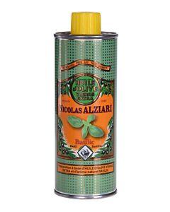 Nicolas Alziari olijfolie Basilicum blik 250 ml