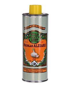Nicolas Alziari olijfolie knoflook blik 250 ml