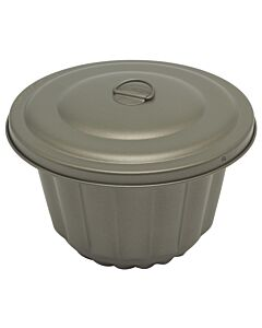 Städter waterbadvorm 2 liter aluminium grijs