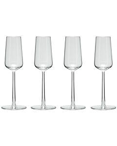 Iittala Essence champagneglas 210 ml glas transparant 4 stuks