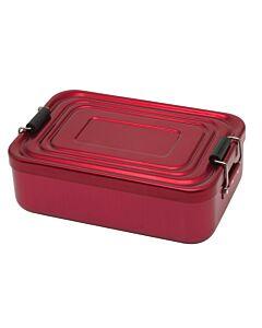 Küchenprofi lunchbox 18 x 12 cm aluminium rood