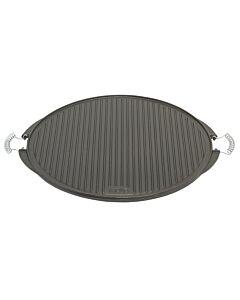 Vaello dubbelzijdige grillplaat ø 53 cm gietijzer zwart mat