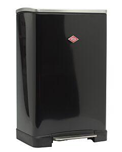 Wesco Big Double Boy afvalemmer 2 x 18 liter plaatstaal zwart