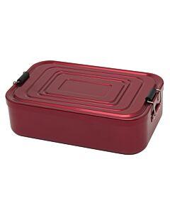 Küchenprofi lunchbox 23 x 15 cm aluminium rood