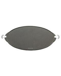 Vaello dubbelzijdige grillplaat ø 65 cm gietijzer zwart mat