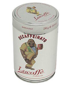 Lucaffé Decaffeinato koffiebonen blik 250 gram