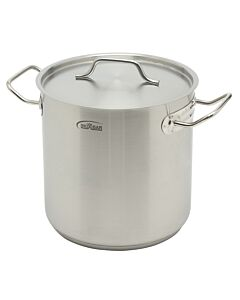 Inoxibar industriële soeppan 8 liter ø 22 cm rvs mat