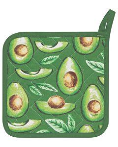 Now Designs Avocados pannenlap 20 x 20 cm katoen groen