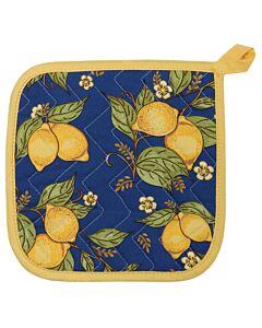 Now Designs Provencal Lemons pannenlap 20 x 20 cm katoen blauw/geel