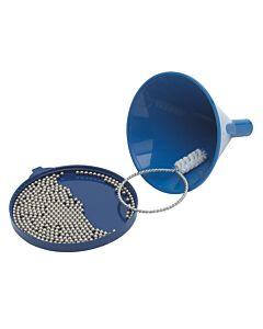 Brushtech decanteer en fles waskit 11 cm kunststof blauw