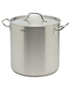 Inoxibar industriële soeppan 25,5 liter ø 32 cm rvs mat