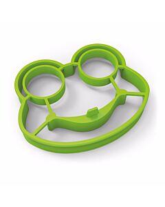 Fred Funny Side Up Frog eibakvorm kikker 14 x 11,5 cm silicone groen