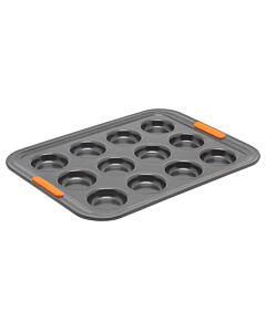 Le Creuset Pâtiliss bakvorm voor 12 mini-cakes staal zwart