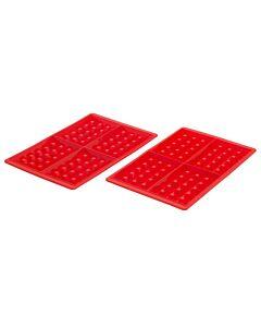 Lékué wafelvormen 29 cm silicone rood 2 stuks