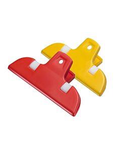 Westmark Bag Clips maxi kunststof geel-rood 2-delig