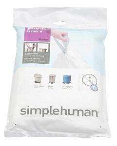 Simplehuman type B afvalzakken 30 stuks