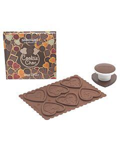 Silikomart Cookie Choc Kit harten kerst silicone 3-delig