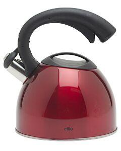 Cilio fluitketel 2,5 liter rvs rood