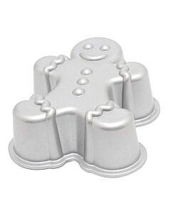 Nordic Ware Gingerbreadman bakvorm 1,42 liter gietaluminium grijs