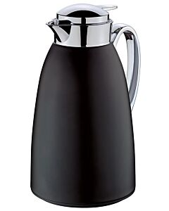 Cilio Venezia thermoskan 1 liter rvs mat zwart