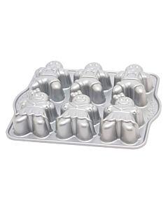Nordic Ware gingerbread kids bakvorm 6 stuks 31 x 25 cm gietaluminium grijs