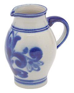 Oldenhof karaf met schenktuit 500 ml keramiek blauw