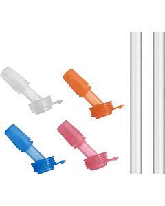 Camelbak Eddy Kids Bite valve 4-pack met 2 rietjes