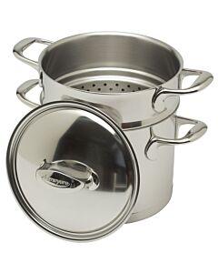 Demeyere Atlantis hoge kookpan met pasta-inzet ø 20 cm rvs