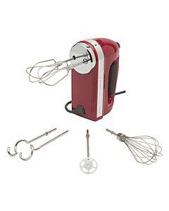 KitchenAid handmixer met accessoires kunststof rood 8-delig