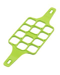 Silikomart eibakvorm/borstplaatvorm 12 vierkantjes 4 x 4 cm silicone groen