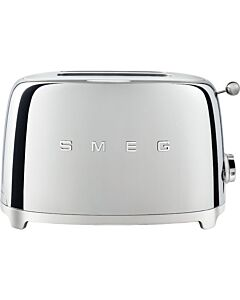 SMEG 50's style broodrooster 2 sleuven staal chroom