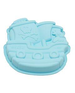 Silikomart Babyline Pirates Boat bakvorm 1,3 liter silicone blauw